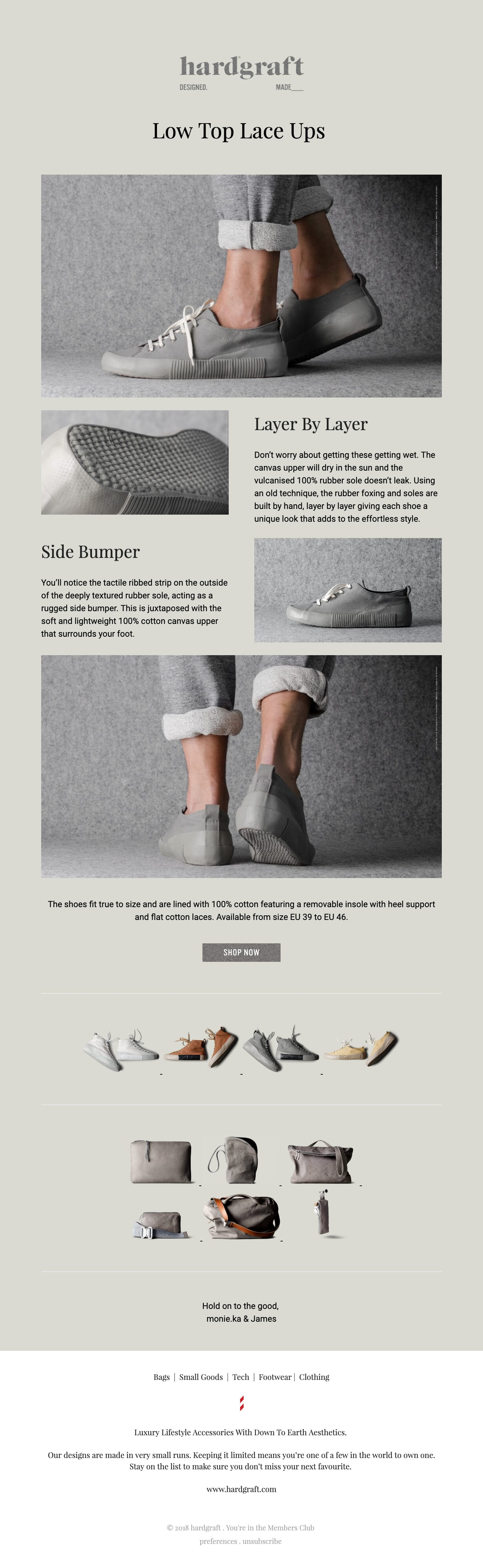 Out Now – Canvas Low Tops Email Screenshot