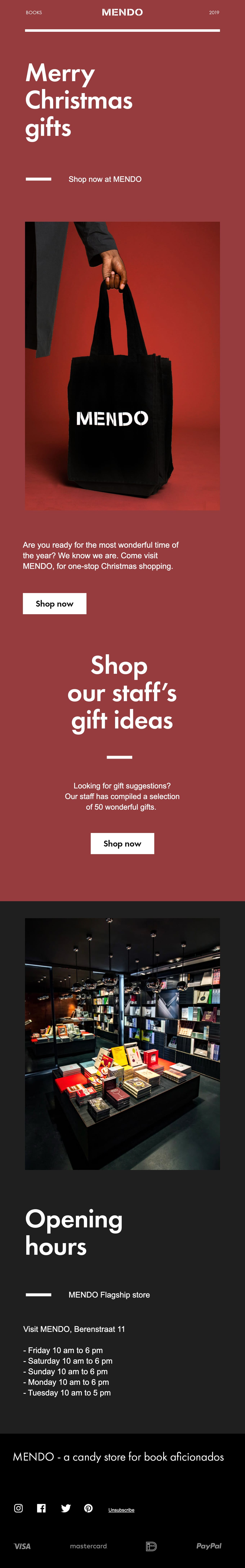 Last-minute Christmas gift ideas Email Screenshot