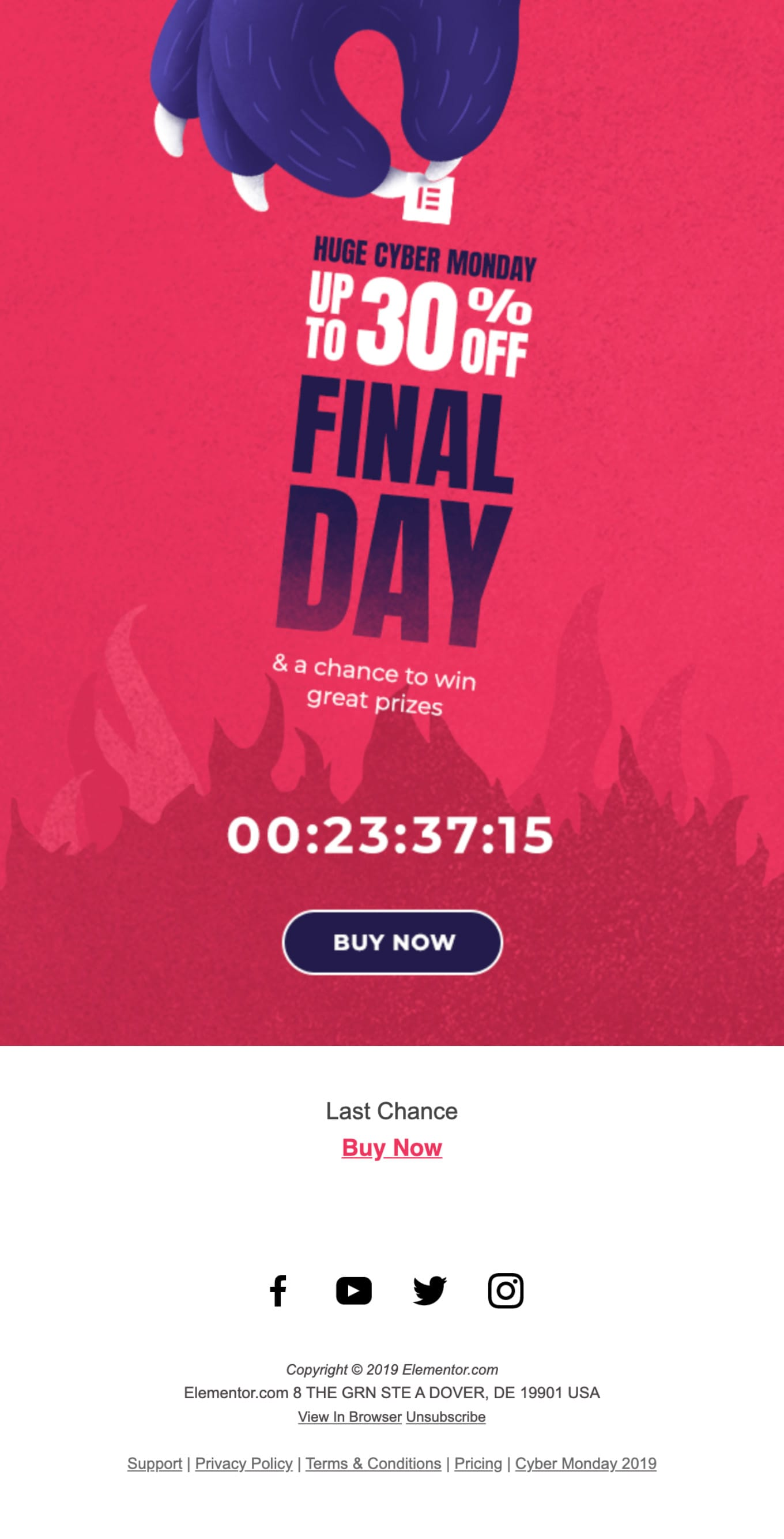 LAST CHANCE – Sale Ends Today. Email Screenshot