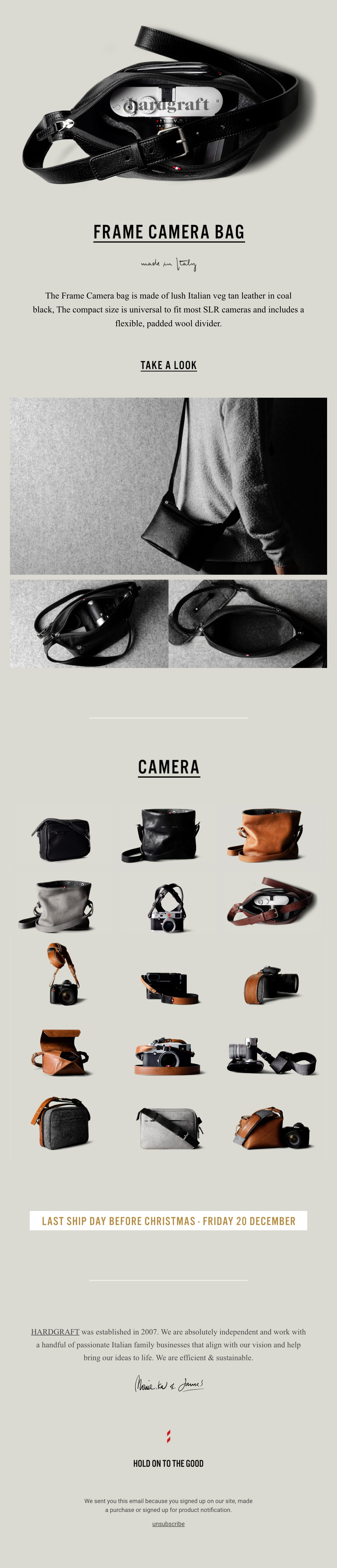 You invested in the best camera, now let's protect it properly. Email Screenshot