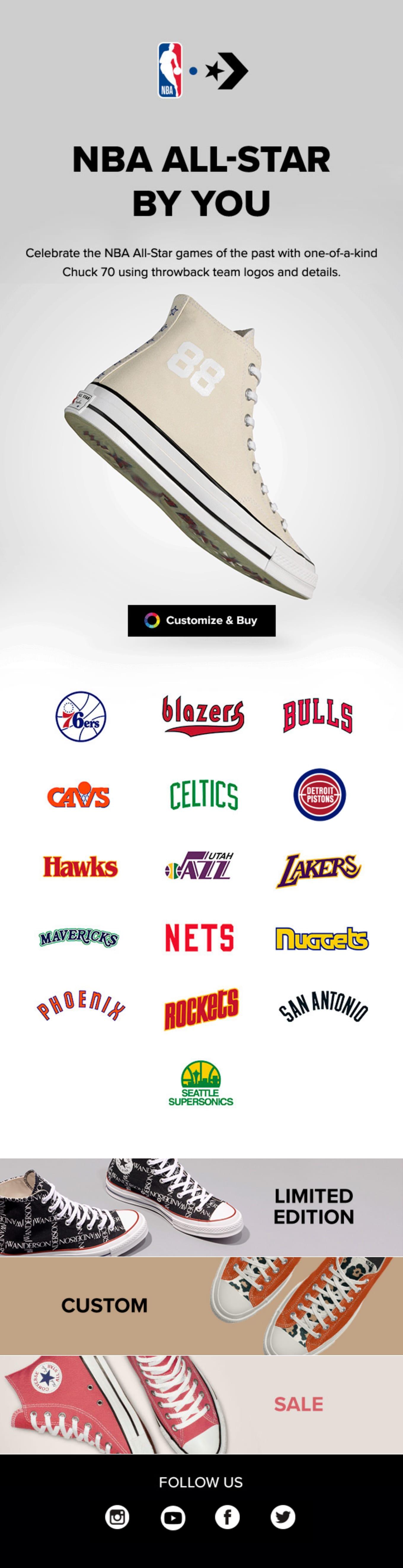 Custom NBA All-Star Pack Email Screenshot