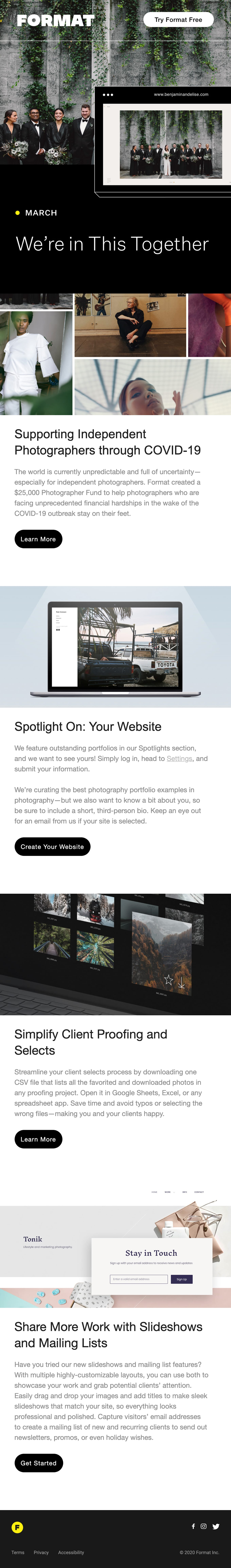 New Fund to Support Photographers Email Screenshot