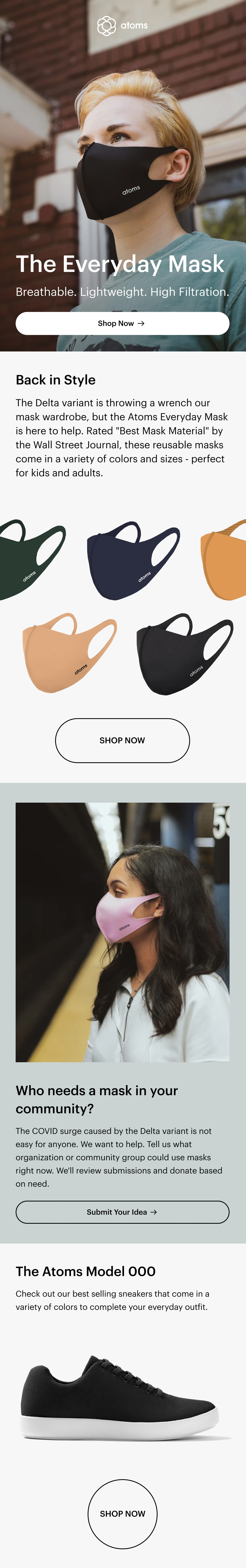 The Perfect Masks Do Exist Email Screenshot